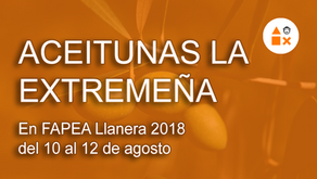 Aceitunas La Extremeña en FAPEA Llanera 2018 del 10 al 12 de agosto