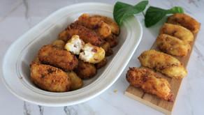 Receta de croquetas de jamón ibérico con los milagros de Santa Rita Harinas, fáciles y buenas