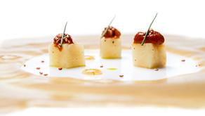 Crema de Apionabo, erizo de mar, sichimi togarashi, sesamo-umeboshi by José Carlos Fuentes, chef de