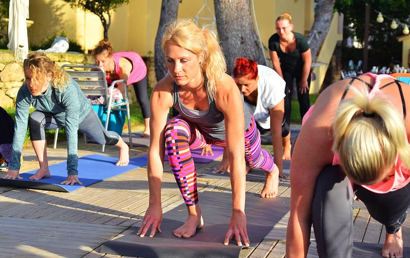 Skønne yogier
