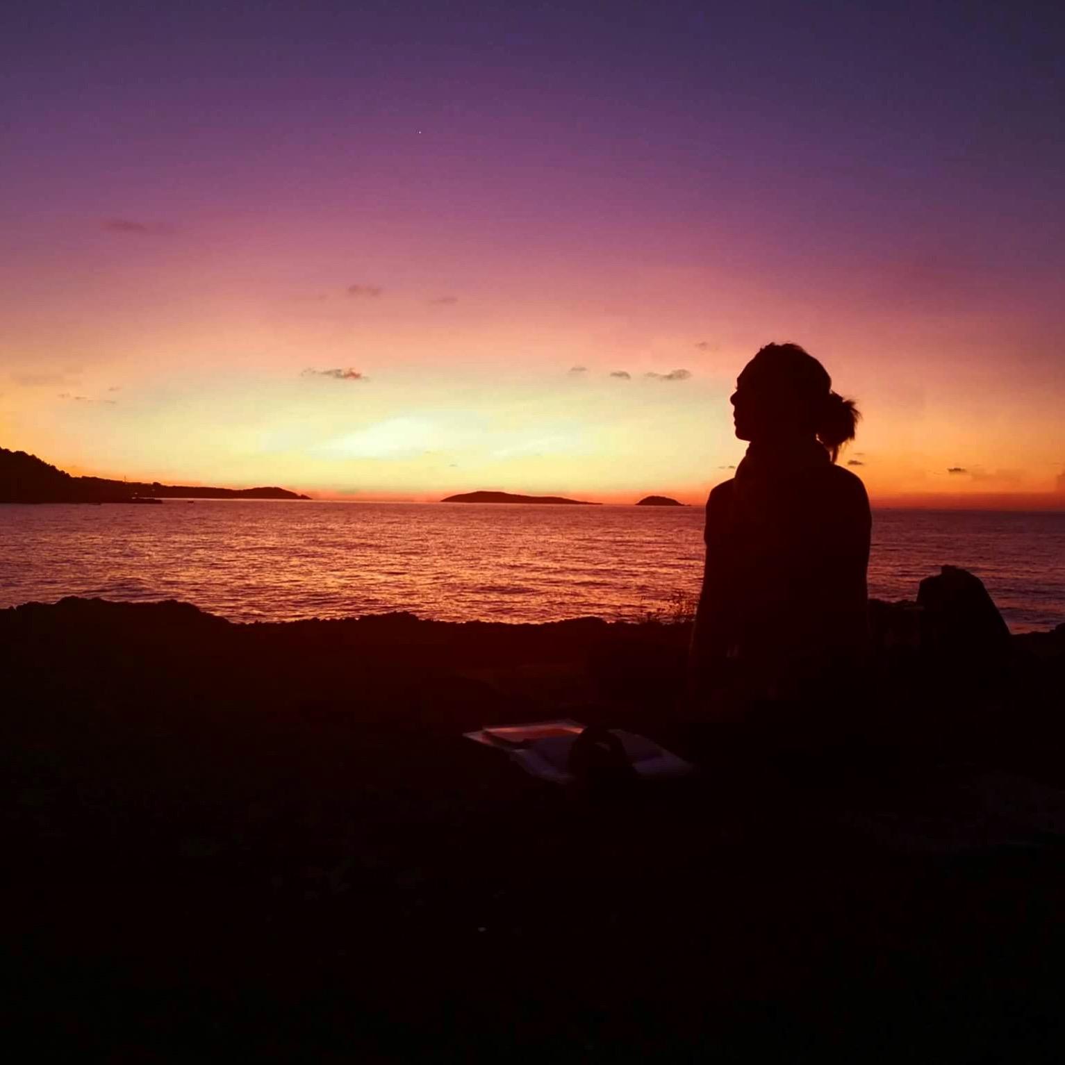Morgen meditation med udsigt