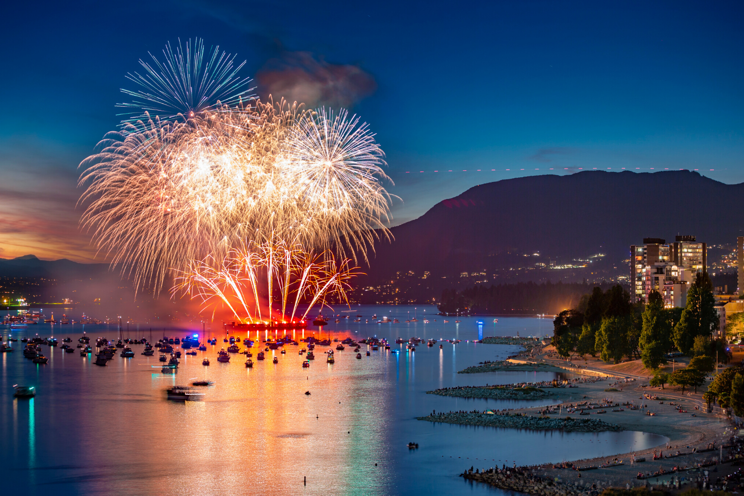 Celebration of Light - fireworks in English Bay
