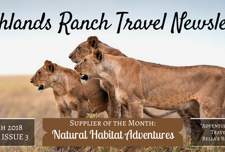 Highlands Ranch Travel Newsletter: The March Issue