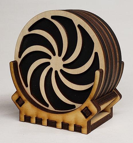 Pinwheel Coaster Set