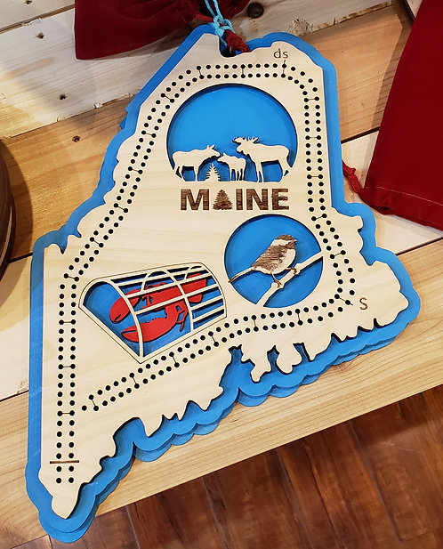 Maine Cribbage Board