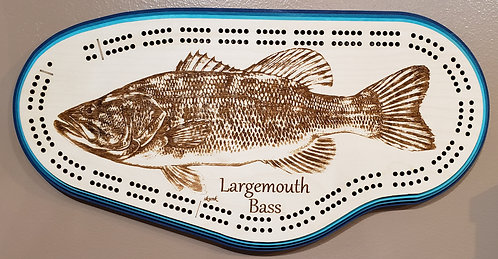 Largemouth Bass Cribbage Board