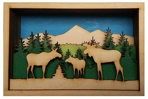Moose Shadow Box