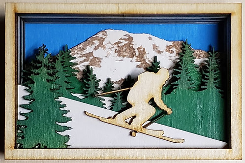Skier Shadow Box