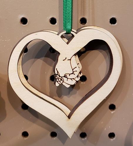 Hands Heart Ornament