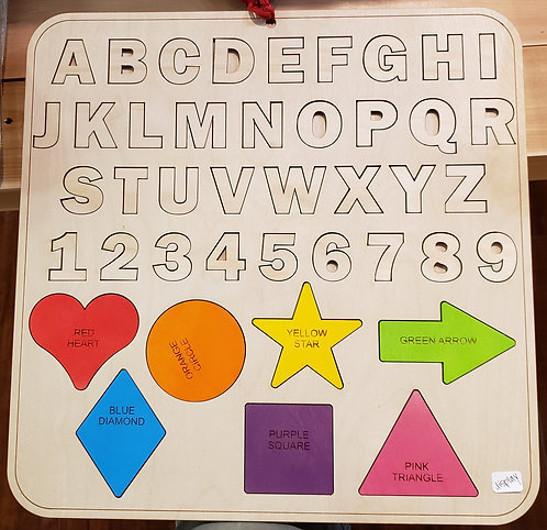 Alphabet and Shape Puzzle