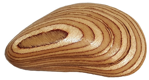 Wooden Mussel Shell