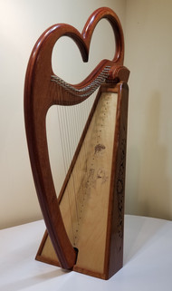 hand carved harp