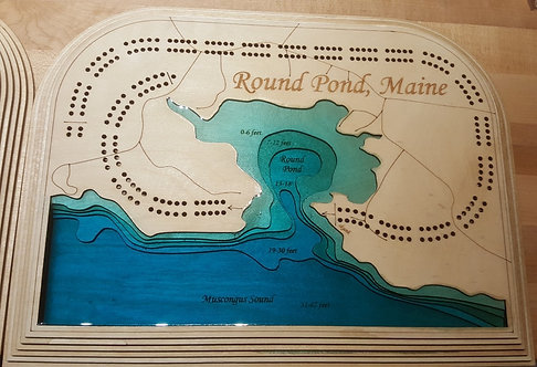 Round Pond Cribbage Board