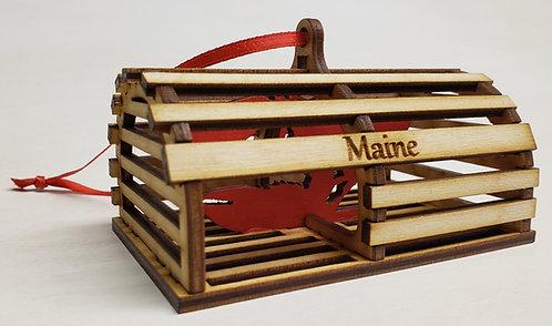 3D Lobster Trap ornament