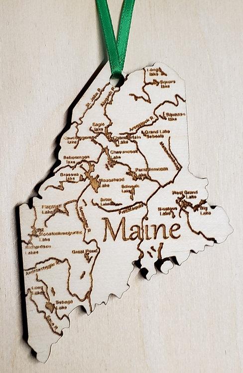 Maine State Ornament