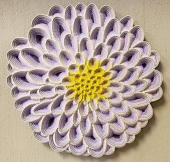 Lavender Dahlia Wall Hanging