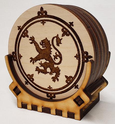 Scottish Rampant Coaster Set
