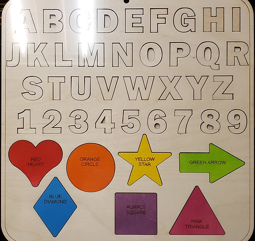 Alphabet and Shapes Puzzle