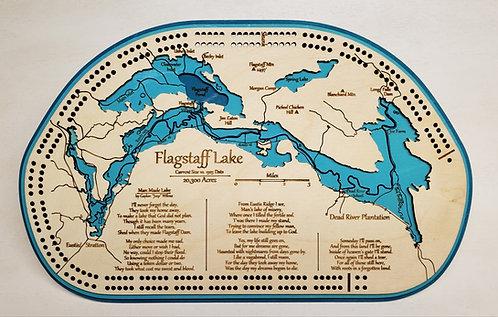 Flagstaff Lake Cribbage Board