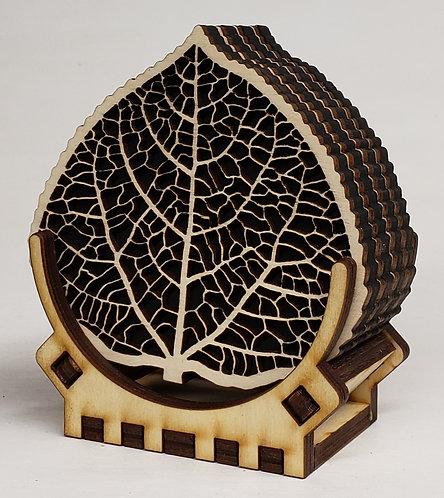 Aspen Leaf Coaster Set