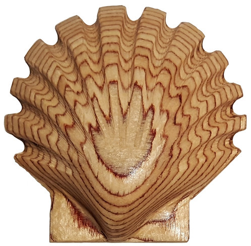 Wooden Scallop Shell