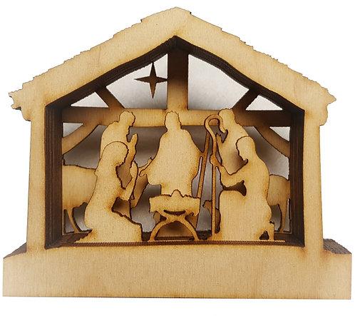 Small Nativity Shadow Box