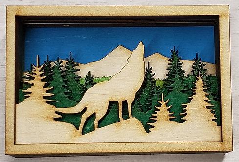 Wolf Shadow box