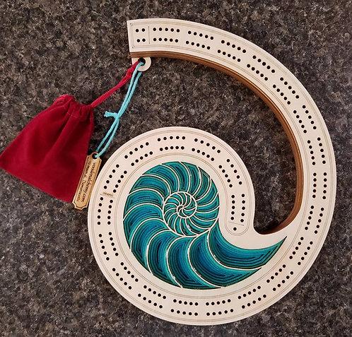 Nautilus Cribbage Board