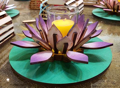 Purple Lotus Votive