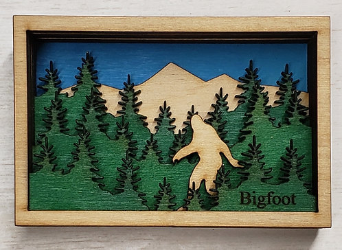 Bigfoot Shadow Box