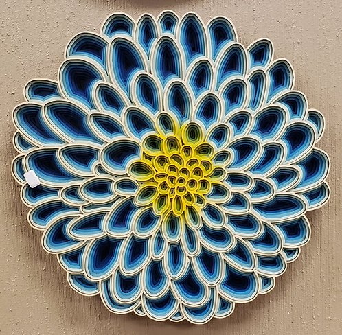 Blue Dahlia Wall Hanging