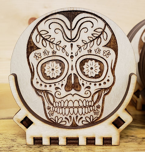 Mandala Skull Coaster Set