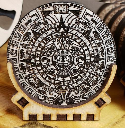 Mayan Calendar Coaster Set