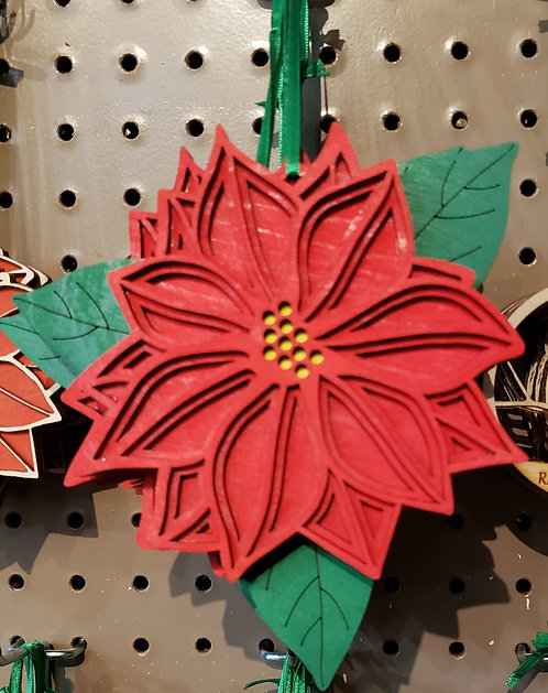 Pointsettia Ornament