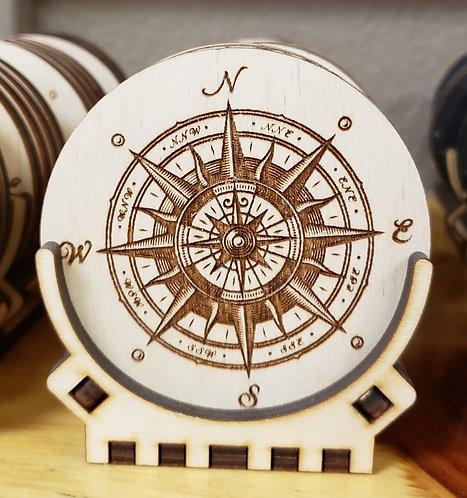 Compass Rose Coaster Set