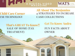 Sale of Home, Increase Cash Collections, Use Technology