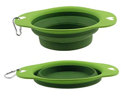 Collapsible Pet Bowl W/Carabiner