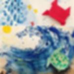 Origami + watercolor demo kids art class