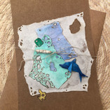 Dolphin summer greeting card