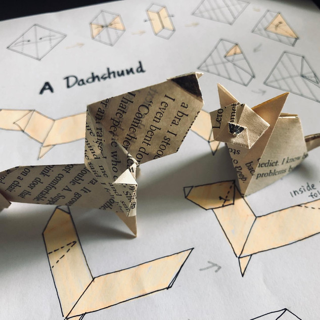 Origami Cat and Dog