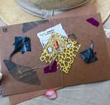 Stingrays summer greeting card