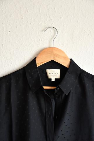 Chemise noire x Sezanne