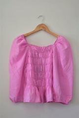 Pink top manches ballon