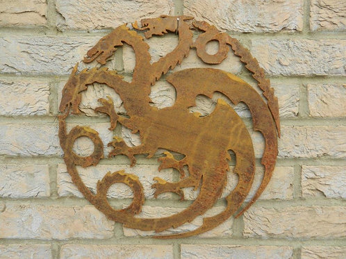 Rusty Metal Game of Thrones Wall Plaque