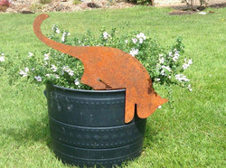 Rusty Metal Cat by Rusty Rooster