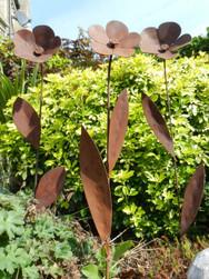Rusty Flower Sculpture
