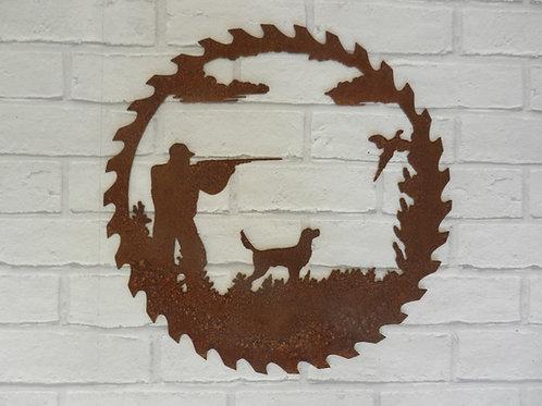 Rusty Metal GameKeeper / Shooting Wall Art