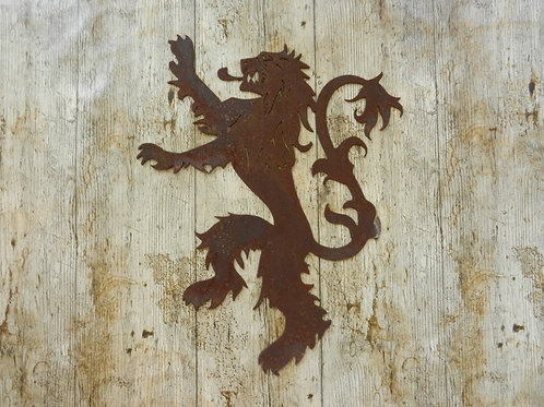 Rusty Metal House Lannister GoT Lion Wall Plaque