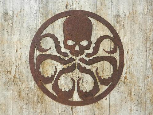 Rusty Metal Hydra Wall Plaque