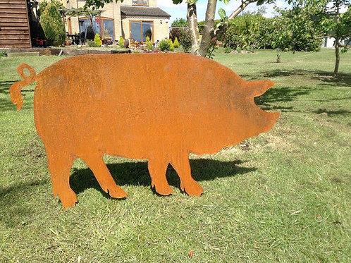 Rusty Metal Pig - Boar